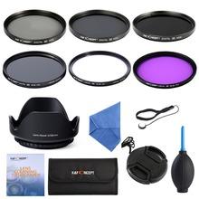 58 MMUV CPL FLD + ND2 ND4 ND8 Filter kits + Gegenlichtblende + Cap + reinigung Kit für Canon Rebel T4i T3i T3 T2i T1i XT XS XSi 18-58mm(China (Mainland))