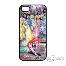 For iphone 4/4s 5/5s 5c SE 6/6s plus ipod touch 4/5/6 back skins mobile cellphone cases cover little mermaid zombie princess