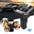 Bluetooth Hands free Car kit Fm Transmitter 3 4A Dual USB Outputs Car Charger for Mobile