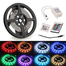 FS Hot3M 90 SMD 5050 LED RGB Leiste Strip Band Streif RGB + 24 Taste Remote(China (Mainland))