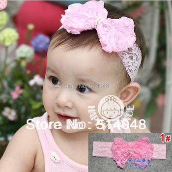1Pc New Style Lace Headband Hairband Baby Girls Flowers Hairbands Kids Hair Accessories Baby Christmas Gift