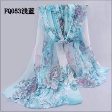 Chiffon silk scarf 2017 scarf female summer autumn all-match scarf long design air conditioning cape silk scarves shawl XQ053(China (Mainland))