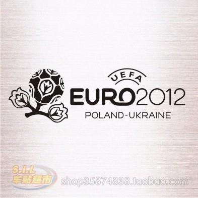 For Reflective car stickers car stickers Euro 2012 Euro 1328 logo(China (Mainland))