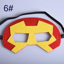 Máscara de super-heróis Cosplay Superman Spiderman Batman Hulk Thor IronMan Princesa do Dia Das Bruxas Natal Crianças Adulto Trajes Do Partido Máscaras(China)
