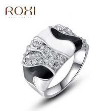 ROXI fashion jewelry ring diy22201 female romantic valentine's day wedding jewelry 18 k gold plated zircon ring 2010248410(China (Mainland))