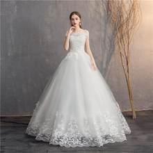 לעשות דוואר 2019 כבוי כתף תחרה חתונה שמלת זול כלה שמלת תוצרת סין פשוט רקמת Vestido דה Noiva(China)
