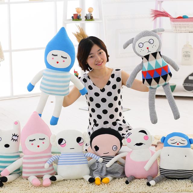 Оптовая продажа горячий стиль в дании и прекрасная шерсть кролик кукла - счастливчик воскресенье WJ015-022