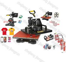 New Design 9 In 1 Combo Heat Press Machine,110V-240V Heat Transfer/Sublimation Machine,sublimation printer for Mug/Cap/TShirt Et(China (Mainland))