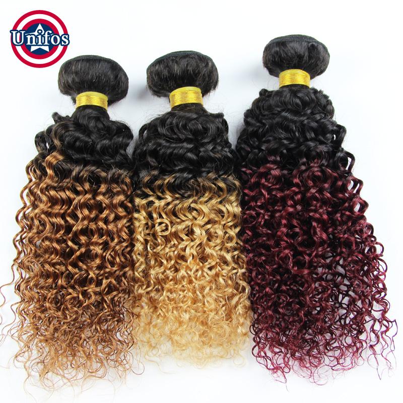 Brazilian Curly Virgin Ombre Hair Extensions Ombre Human Hair Weave Wholesale Virgin Hair 10 Bundles Brazilian Hair Kinky Curly