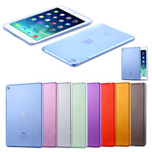 Fashion Candy Back Cover Shell For iPad Mini 4 Ultra Thin Slim Case For Apple iPad Mini4 Cases Soft Silicon Clear Transparent(China (Mainland))