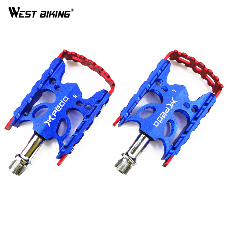 Nonslip Road MTB Bike Pedals Self-lubricating Bearings Mountain Bicycle Pedali Aluminum Alloy High Strength Cycling Bike Pedals<br><br>Aliexpress