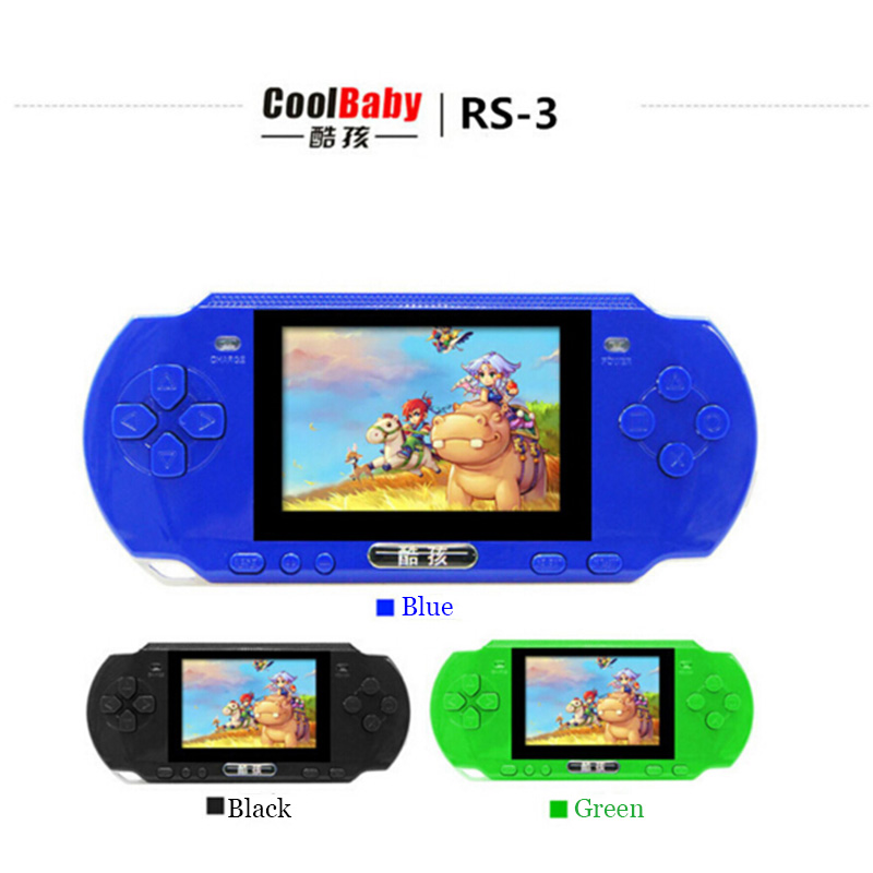 Coolboy Game Consoles RS-3 Children's Handheld Game 16 bit and MD game 8BIT handheld color tetris oyun konsolu juegos Kid Games(China (Mainland))