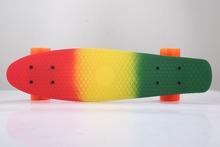 Beadty cool 3-colors Penny Board Skateboard 22inch single rocker little fish long board free shipping(China (Mainland))