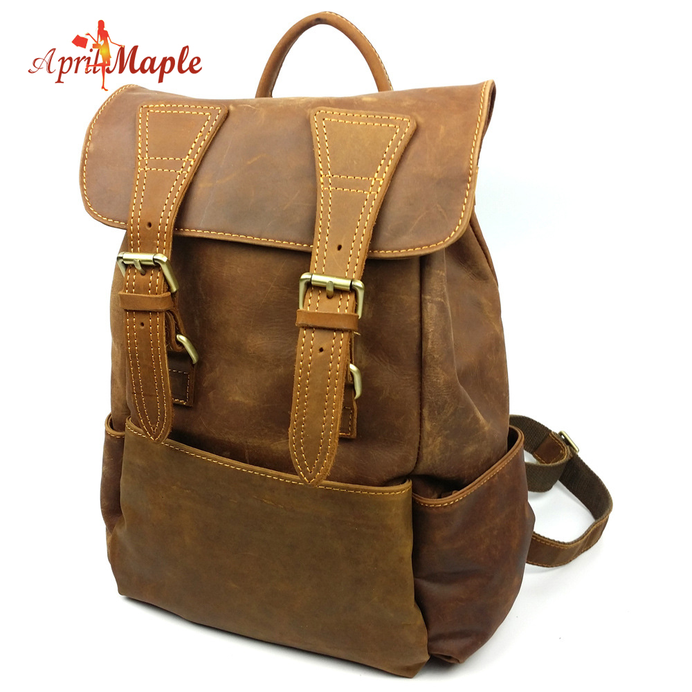 Europe and the United States Ladies Leather Backpack backpack retro fashion leather leather one generation