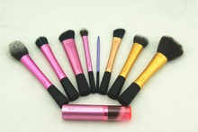 2015 New Arrival 1pcs Real Makeup brush Techniques Powder Blush Expert Face Setting Sculpting Stippling Silicone Liner Brushes