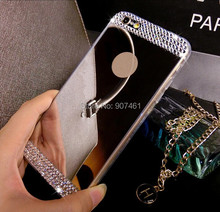 With/ without Bling Diamond Crystal Mirror TPU Soft Gel Case Back Cover For Apple iPhone 4 4s 5 5s 6 4.7'' 6 plus 5.5'' inch(Hong Kong)