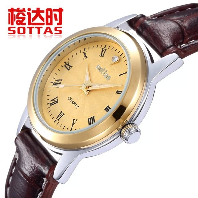Freeshipping 2014 new women luxury dress rhinestone watches fashion casual quartz watch wristwatches Top brand Sottas 5042 clock<br><br>Aliexpress