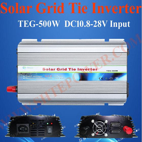 TEG-500w on grid tie 500w solar power inverter dc24v to ac220v with mppt function(China (Mainland))