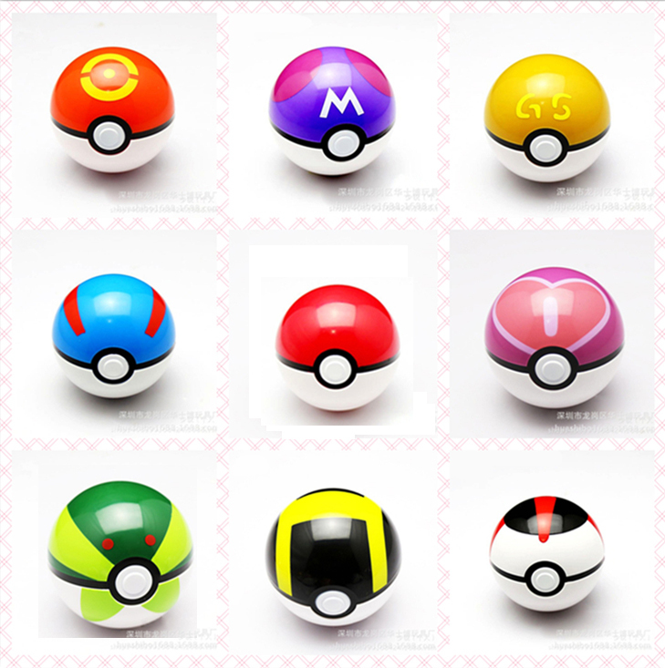 1 Piece Cosplay Pokemon Ball ABS Action Figures Poke Ball Fairy Super Master Ball Kids Toys Free Shipping(China (Mainland))