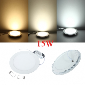 Ultrathin Dimmable LED Panel Light 6W 9W 12W 15W 25W LED Ceiling Downlight brightness adjustable LED Indoor Light AC110-220V<br><br>Aliexpress