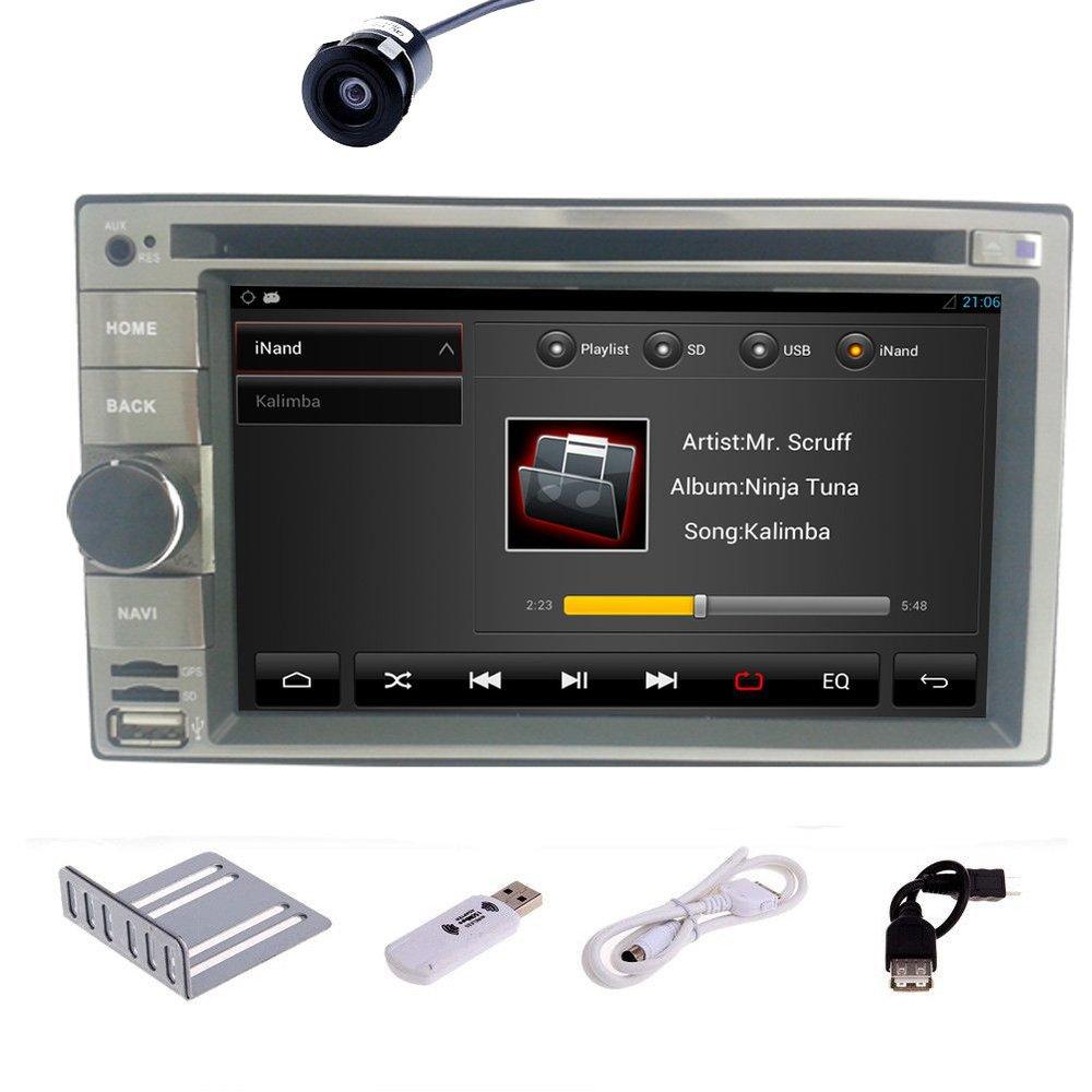 Free Camera+3G dongle Pure Android 4.2 Car DVD Player GPS Navigatin 2 DIN Car Stereo Audio Radio WiFi BT TV RDS Car PC Headunit(China (Mainland))