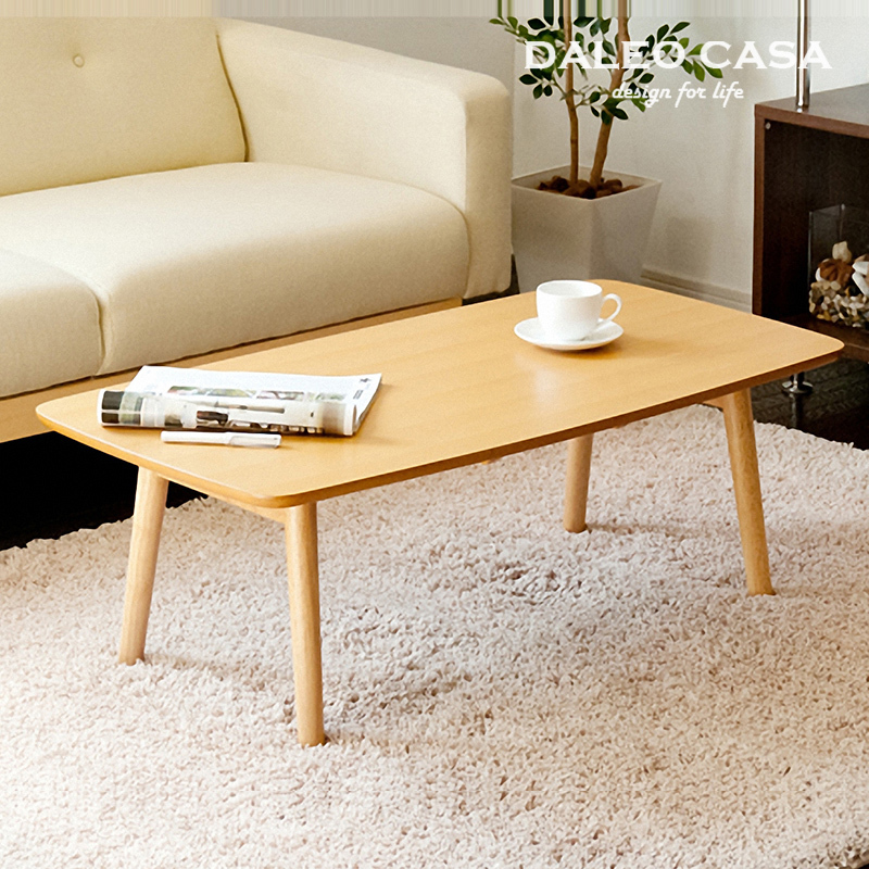 Scandinavian Furniture Small Apartment Minimalist Retro Wood Folding Coffee Table Square Coffee