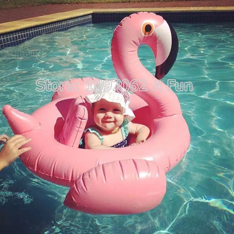 Toddler Pool Accessories Baby Inflatable Swimming Pool Ring Seat Piscine Baby Swimming Flamingo Laps Boy Girls Swan Swim Ring(China (Mainland))