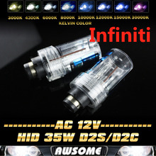Buy Pair D2/D2S/D2C 6000K 5000K White 35W HID Headlight Xenon Bulb 4300K-15000K Color EX35 FX35 FX45 FX50 G25 G35 G37 for $11.99 in AliExpress store