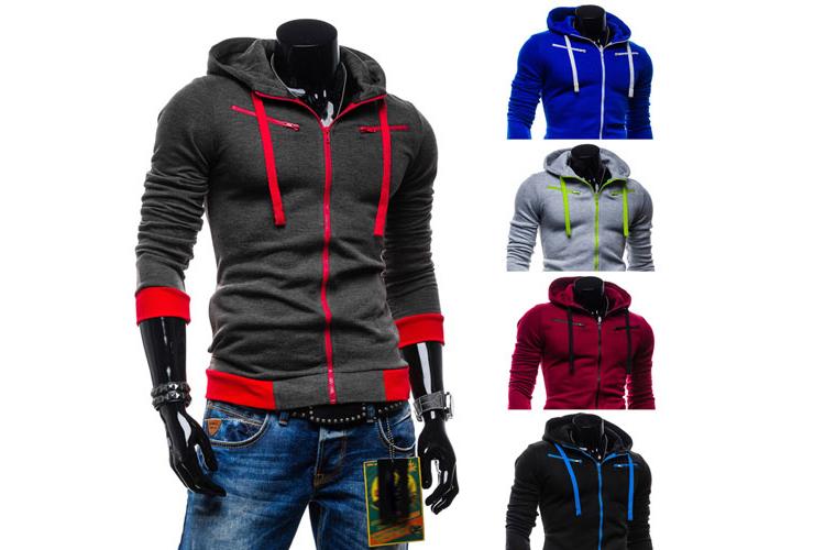 2015 Autumn&Winter Fleece Cardigan Hoodie Jacket,Fashion Hoodies Men,Casual Slim Sweatshirt Men,Zipper - Maris Ms's store