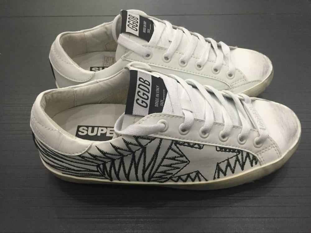 Brand Golden Goose Superstar Casual Shoes Worn Men Women Low Cut Fashion GGDB Genuine Leather Handmade Star Shoes Scarpe Uomo