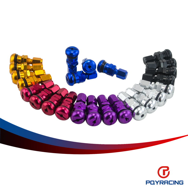 PQY STORE-FREE SHIPPING 4 RAYS VOLK RACING FORGED ALUMINUM VALVE STEM CAPS WHEELS RIMS Blue Silver Black Golden Red Black<br><br>Aliexpress