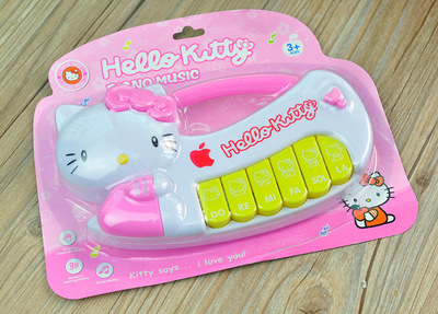 Hello Kitty light music electronic organ educational instruments toy for girl boy girt Safe Toys baby Cultivate talent music(China (Mainland))