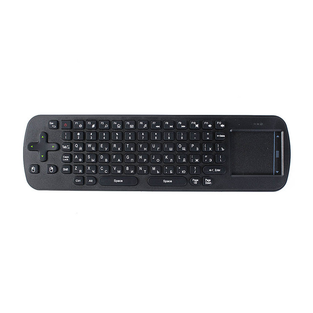 Wholesale 10pcs/lot 2.4GHz Mini Fly Air Mouse wireless tv box Keyboard with touchpad for android Mini PC MID Russian Version