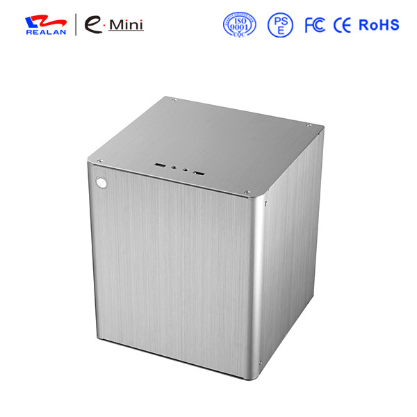Realan D3s Mini ITX Aluminum Computer Case, Silver Vertical ITX Industrial PC Case With PCI Expansion Slots(China (Mainland))