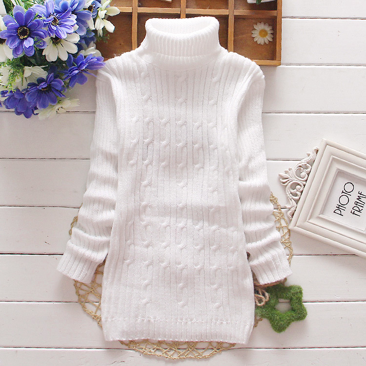 Reatil 2016 Turtleneck Sweater White Cotton Warm Sweater Boy Kids Knitted Pullover Girls Boys jumper Autumn Winter BT-1515(China (Mainland))