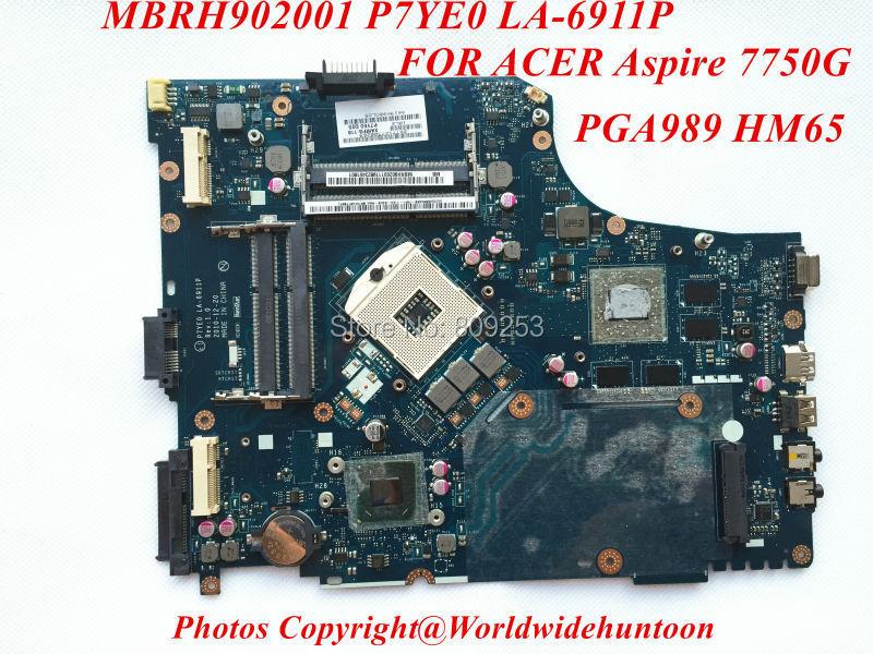 Оригинальная материнская плата для асер Aspire 7750G ноутбук материнская плата MBRH902001 P7YE0 ла-6911P PGA989 полностью испытана и