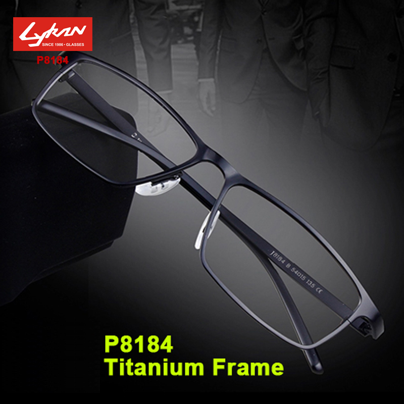 Fashion P8184 titanium eyeglasses optical classic frame Brand designer Men reading glasses frame suit computer glasses lens(China (Mainland))