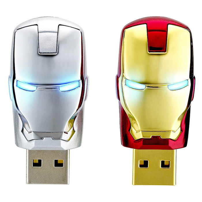 2016 Hot Sale Iron Man Memory Stick Pendrive Flash Card 64GB 32GB 16GB 8GB 4GB USB Flash Drive Real Capacity(China (Mainland))