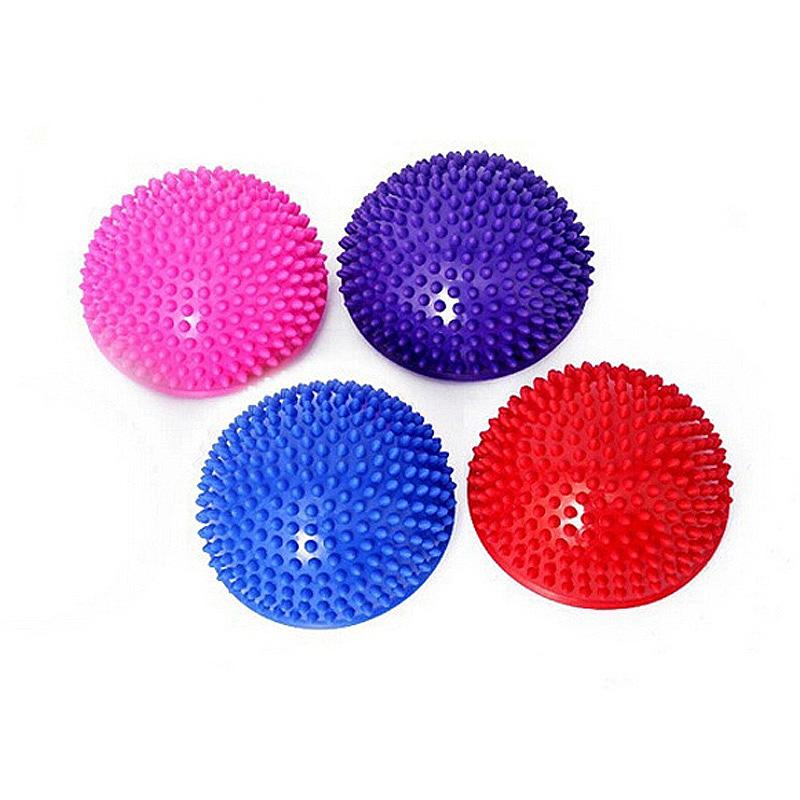 Hot Yoga Half Ball Fitness Equipment Kids Elder Durian Massage Mat Ball Exercise Balance Ball Point Gym Yoga Pilates Ball(China (Mainland))