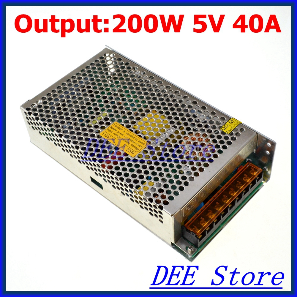 Led driver 200W 5V 40A Single Output   Switching power supply unit for LED Strip light  AC-DC Converter<br><br>Aliexpress