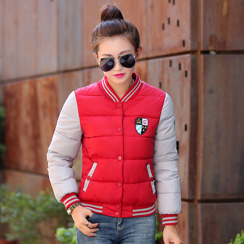 Hot Sale Women New Waterproof Winter Thick Warm Down Jacket Fashion Slim Short Coat Cotton clothes jacket new 2015 Free Shipping(China (Mainla