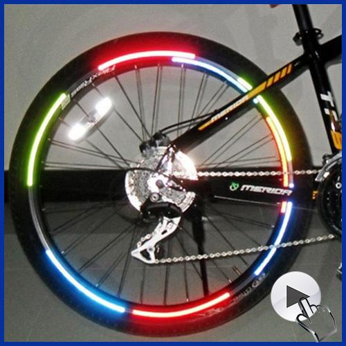Diy Mtb Accessories Decoration Fluorescent Sticker Wheel