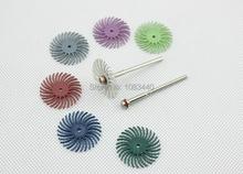 2 Unidades varios tamaño de grano en forma de flor muela grieta pulido cabeza con 2.35 / 3 mm vástago para herramientas Dremel Rotary