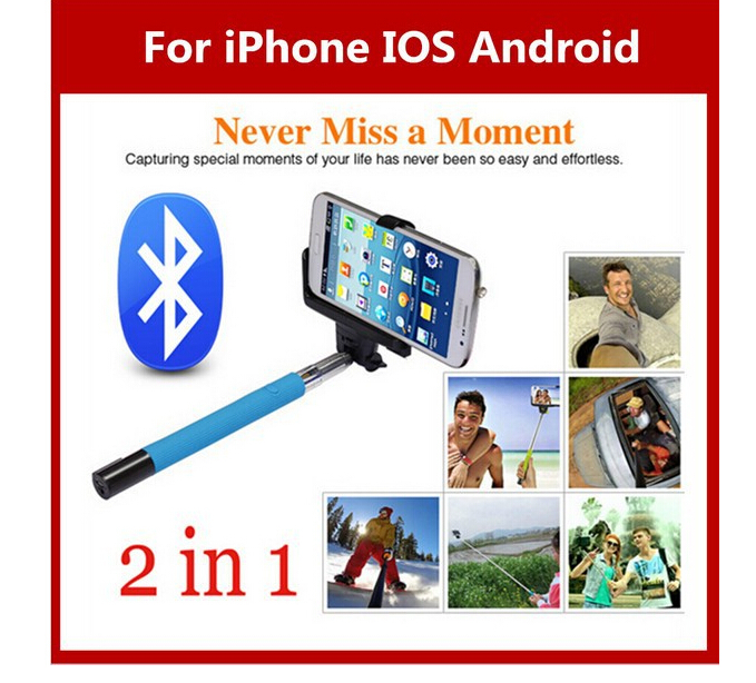 Best Phone selfie stick Tripod Stick Z07-5 Extendable Handheld Bluetooth Camera Shutter Remote Control for all Phone Monopods(China (Mainland))
