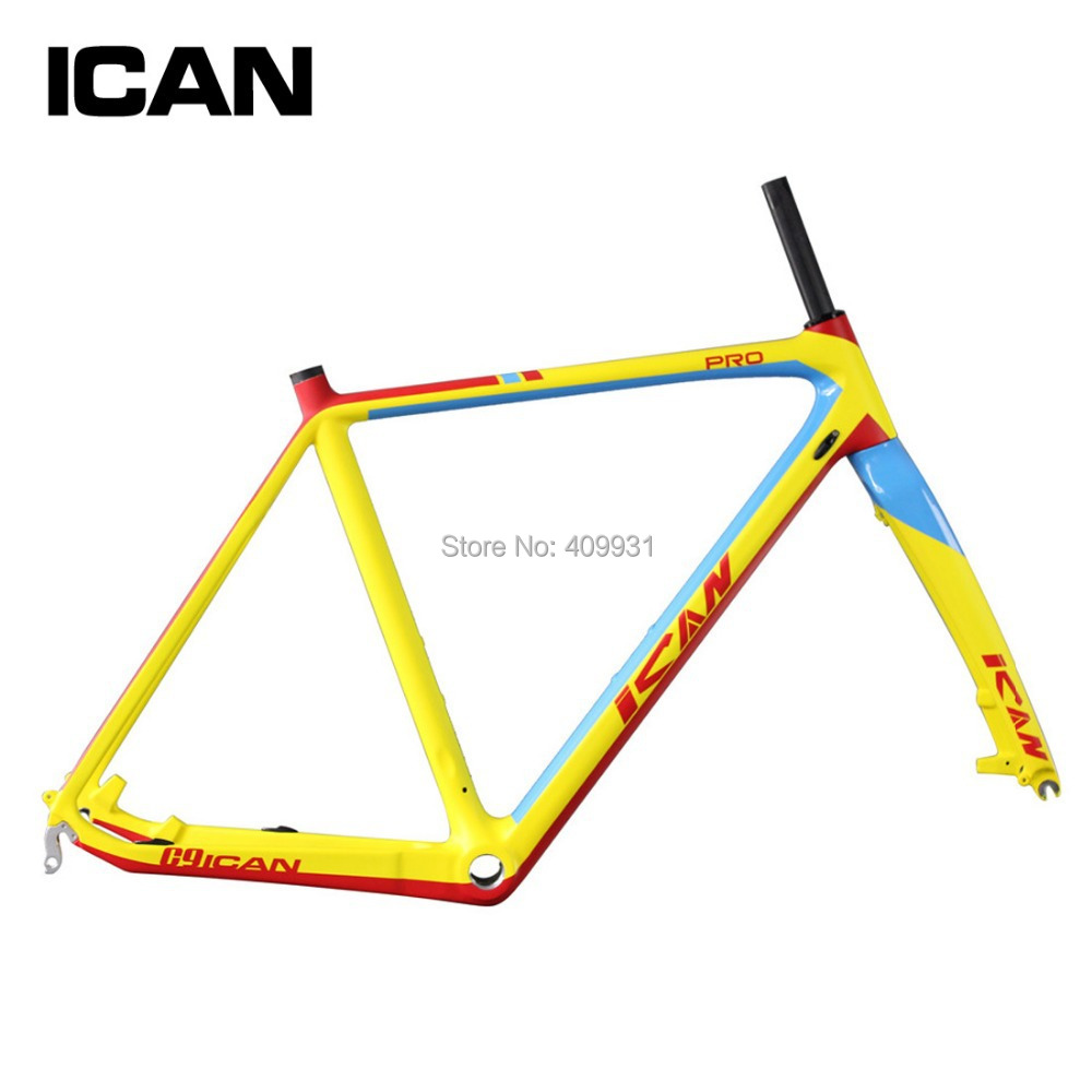 ICAN BIKES Top-rated carbon frame BMX disc cyclocross bike frame di2 PF30/BSA carbon fiber bicycle frame AC059(China (Mainland))