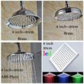 Multi Style Free Shipping 8 Rain Shower Head Polished Chrome Bathroom Rainfall Top Showerhead
