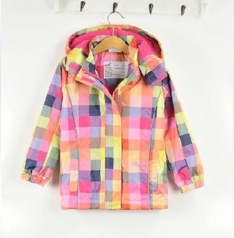 2016 New spring children outerwear girls jackets windbreaker waterproof hoodies plaid & coat kids classic brand jacket - STARRY JADE store