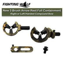 3 Brush Arrow Rest Full Containment Right or Left Handed Compound Bow Arrow Rest Recurve Bow Brush Hunting Slingshot Brush @