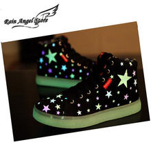Hot Sale Emitting Luminous Fashion Sneakers For Men And Women LED Lights Sport Shoe High Tops Men Shoes Fluorescence Hip-Hop