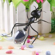 New Kids Solar Toys Power Energy Solar Ant Black Children Insect Bug Teaching Fun Gadget Toy Gift(China (Mainland))